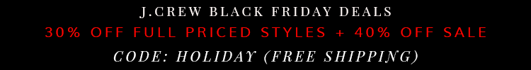 Crew Black Friday Deal 2014