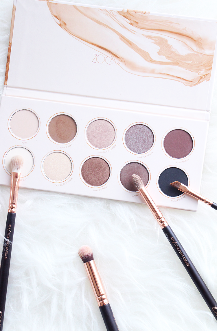 Zoeva Rose Gold Brushes, Neutral Eyeshadow Palette