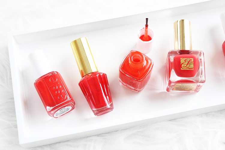 Best Orangey Red Nail Polishes