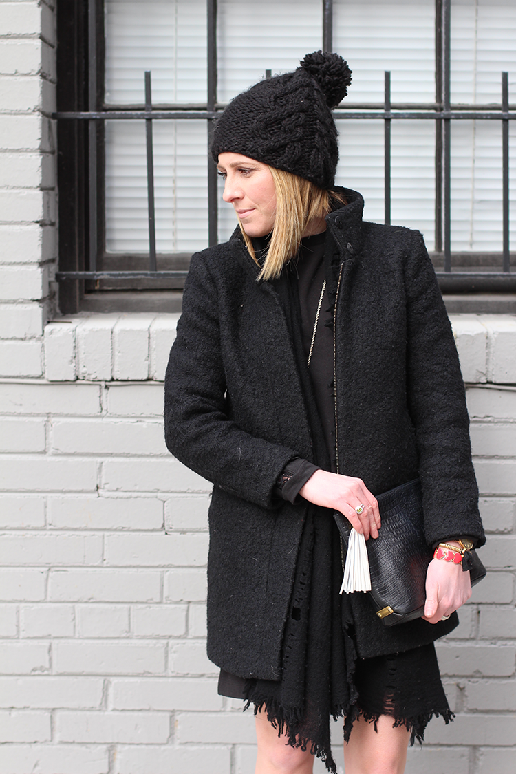 Comfy Black Dress, Dressy Black Coat