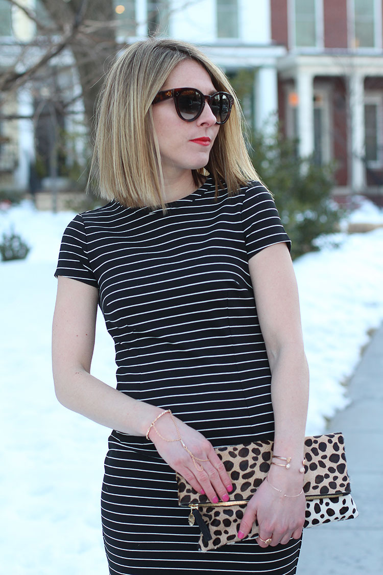 Leopard & Stripes, Bold Red Lip