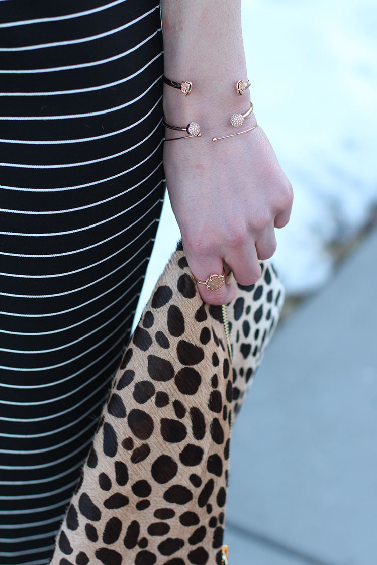 Rose Gold Bracelets, Stripes & Leopards