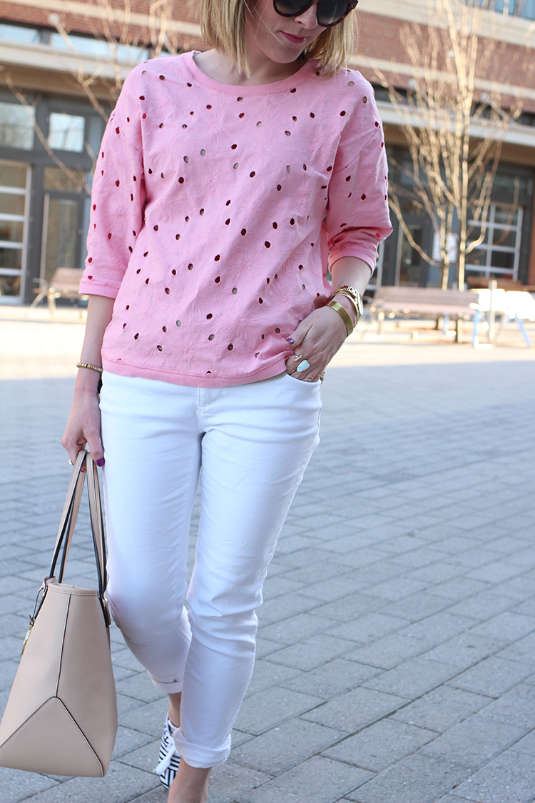 Comfy White Jeans, Easy Spring Outfit