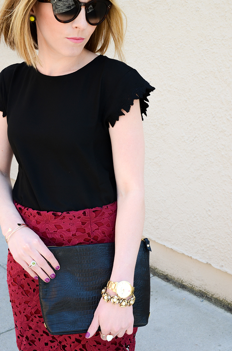 Lace on Lace, Affordable Lace Skirt