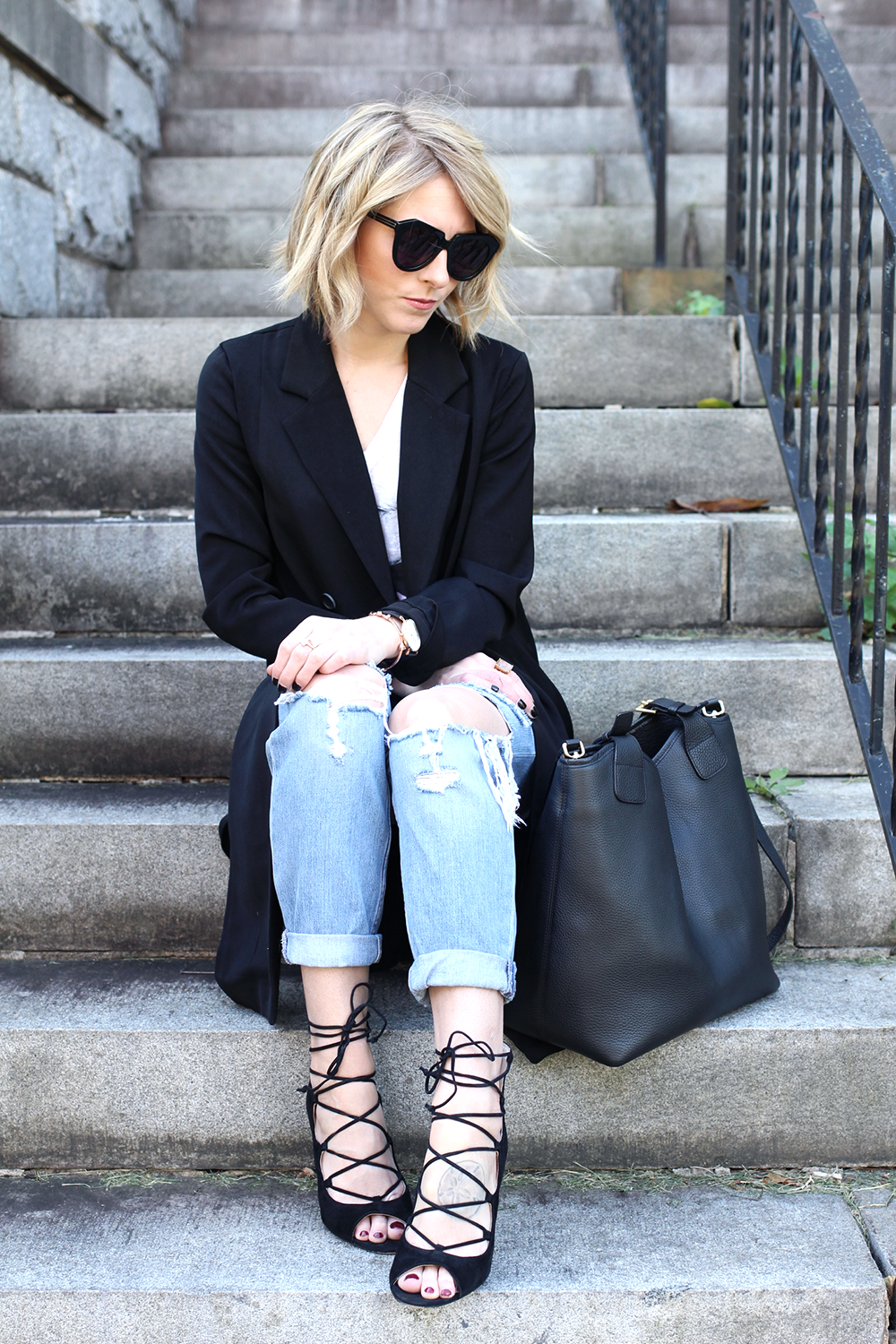 Ripped Denim, Damsel in Dior Outfit, Topshop Denim