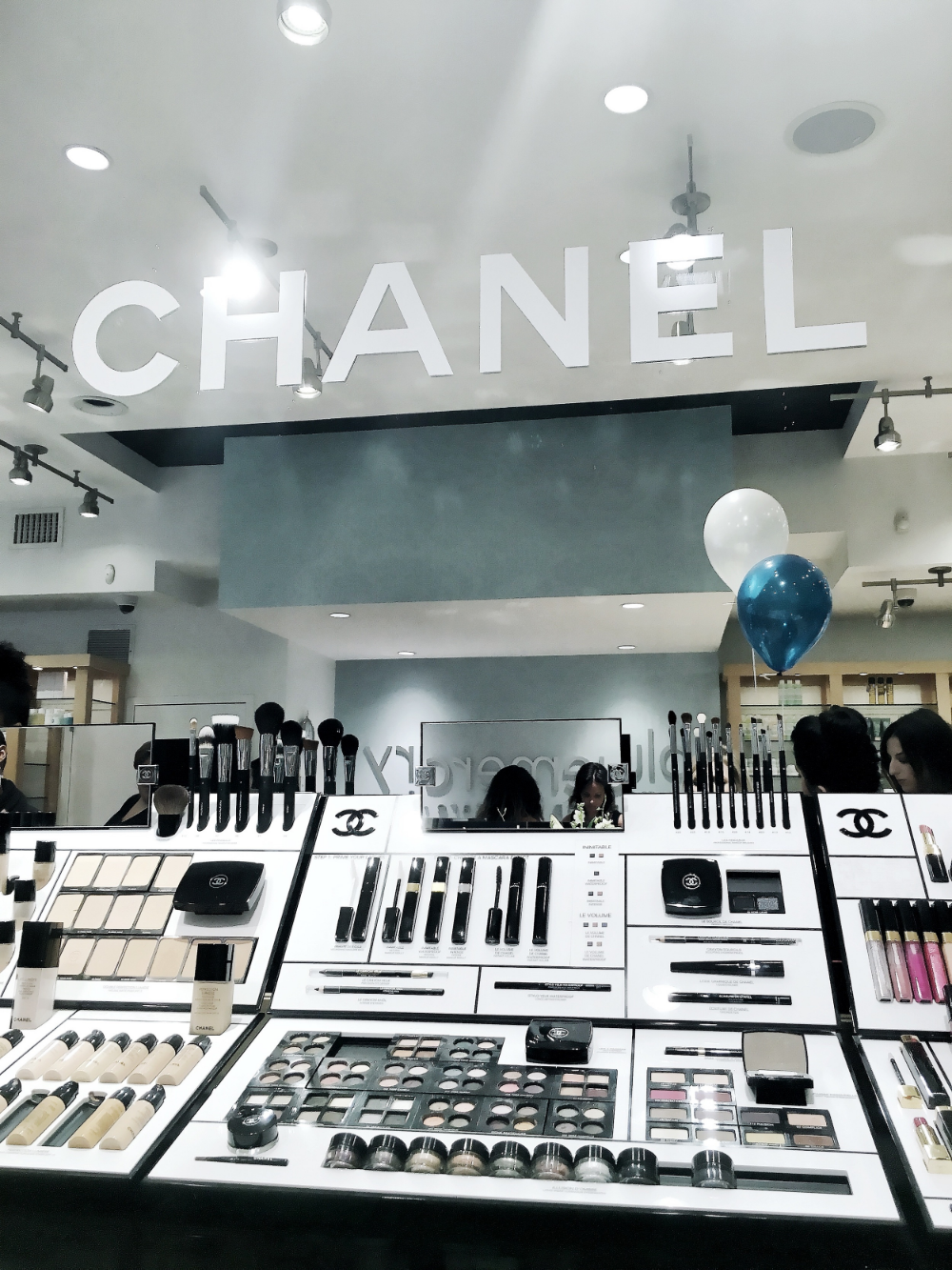 Chanel Beauty Counter, Blue Mercury