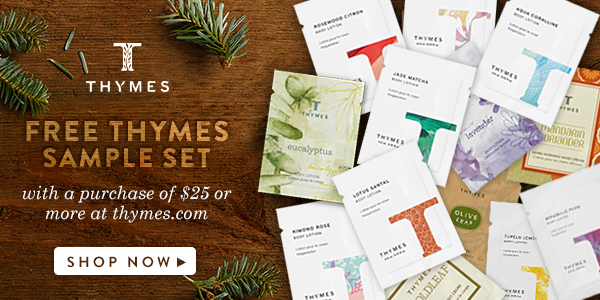 Celebrating The Holiday's with Thymes