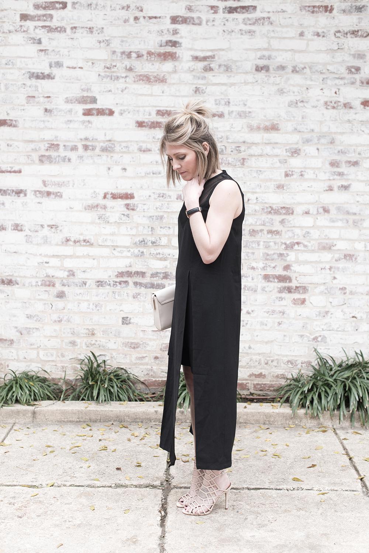 Black Dress, Black Mesh Dress, Modern Black Dress