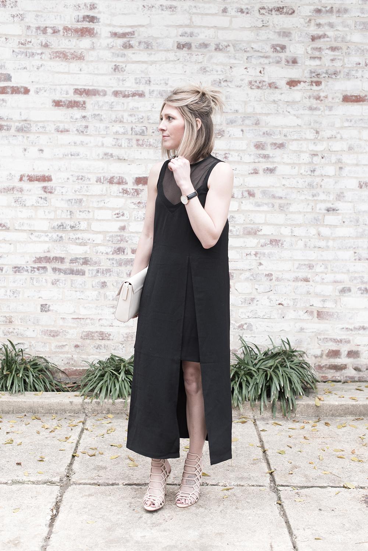 Mesh Midi Dress, Elliatt Distinct Black Dress, NYE Dress