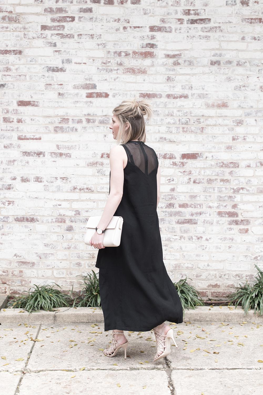 Elliatt Black Mesh Dress