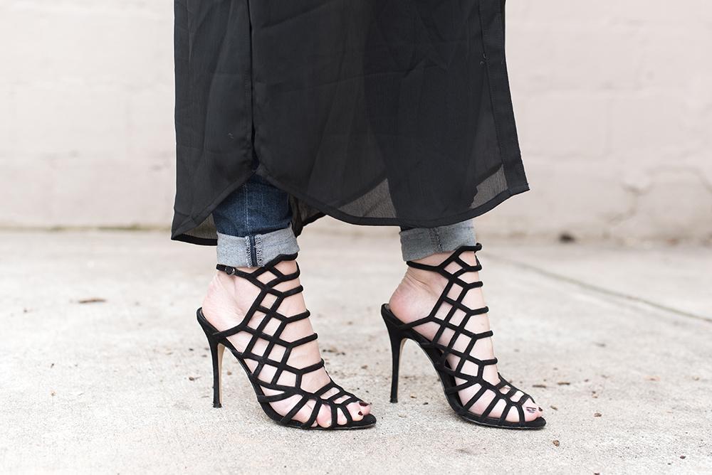 Black Cage Heels