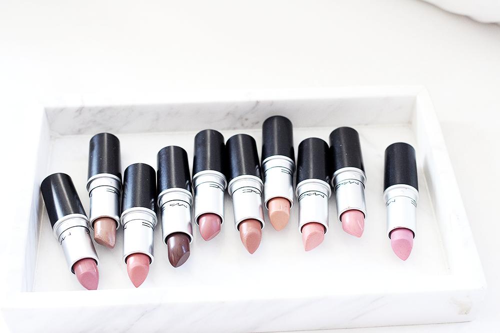 MAC Lipstick Collection: 10 Nude/Neutral Lipsticks