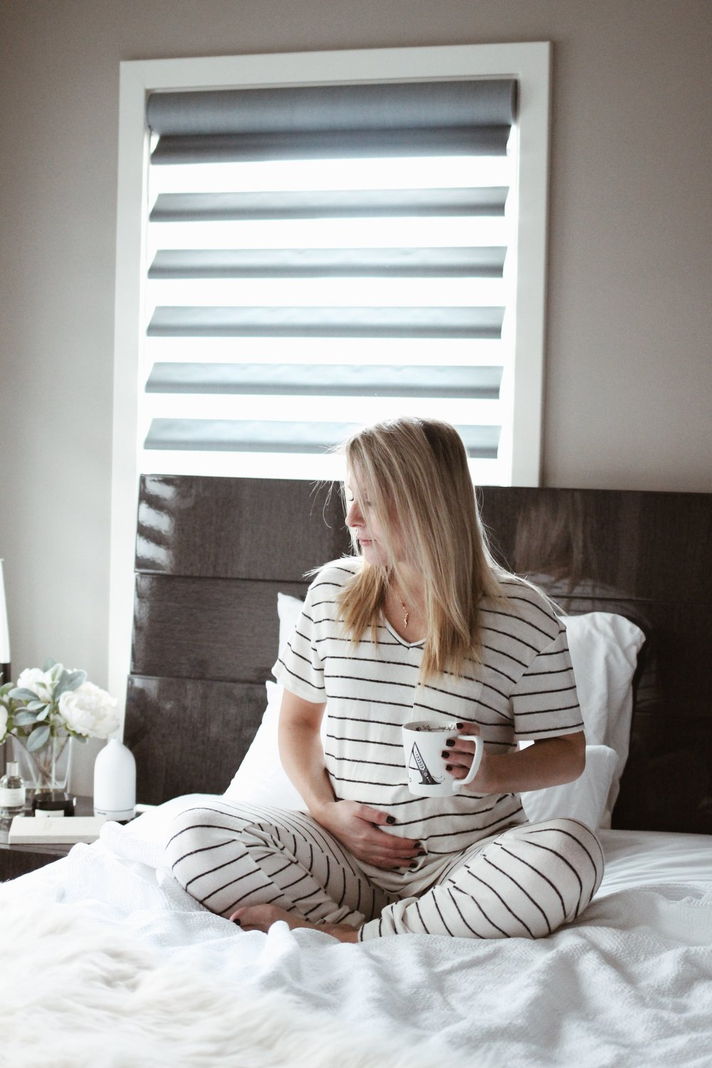 Striped Pajamas, Striped Maternity Pajamas