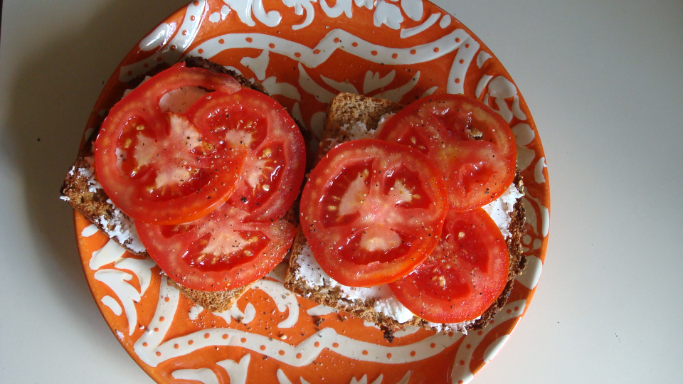 tomato and chevre