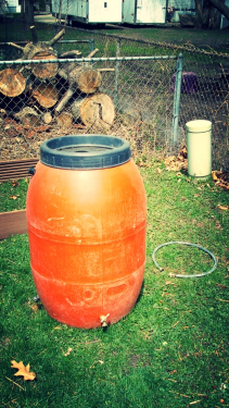 uninstalled rain barrel