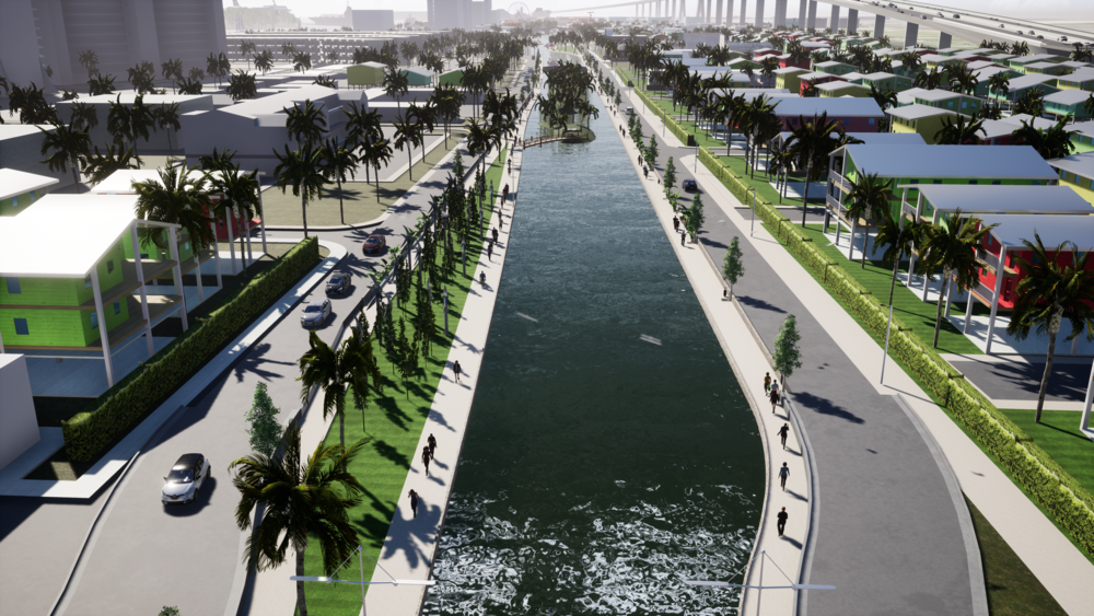RENDERING OF PROPOSED CANAL AND BOARD WALK