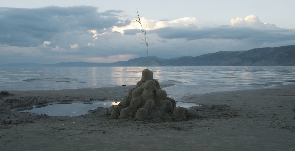 Sand Castle With Common Reed, Bear Lake, Utah, 2008