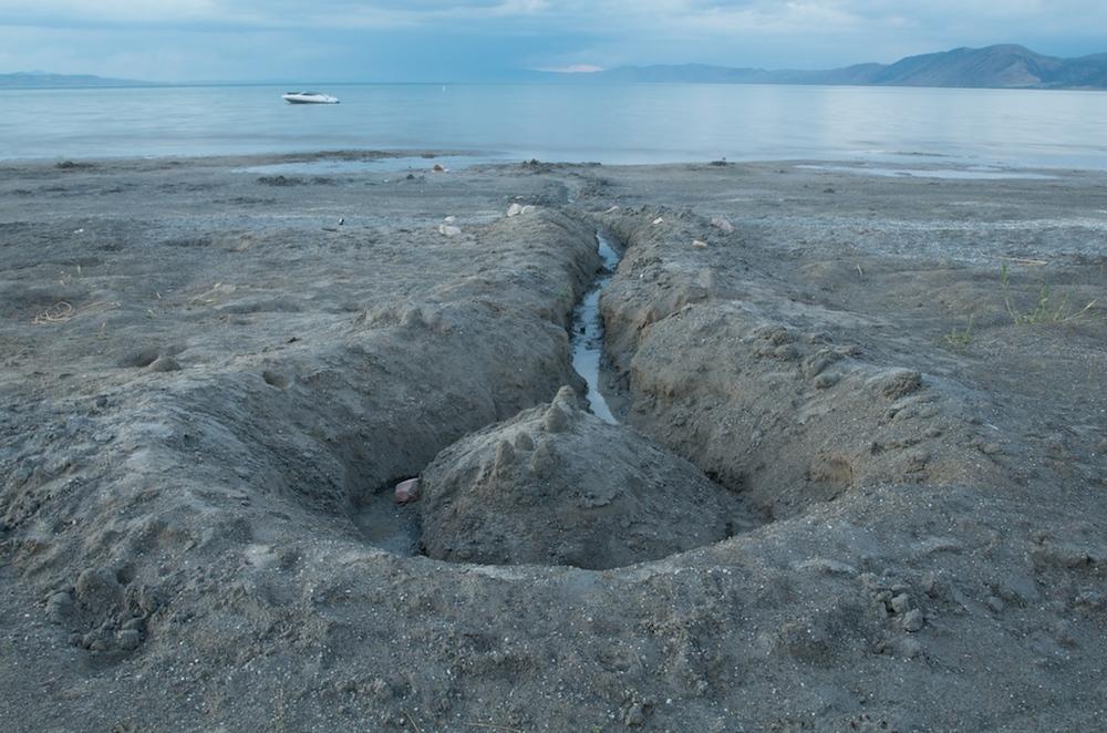 Moat and Trench, Bear Lake, Utah, 2008