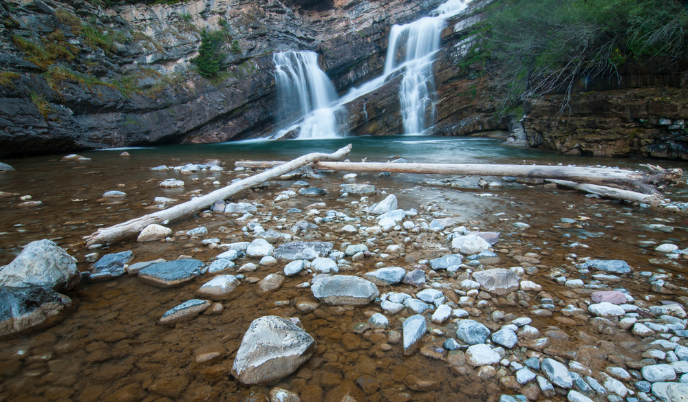 Cameron Falls, Waterton Lakes National Park, July 2015
