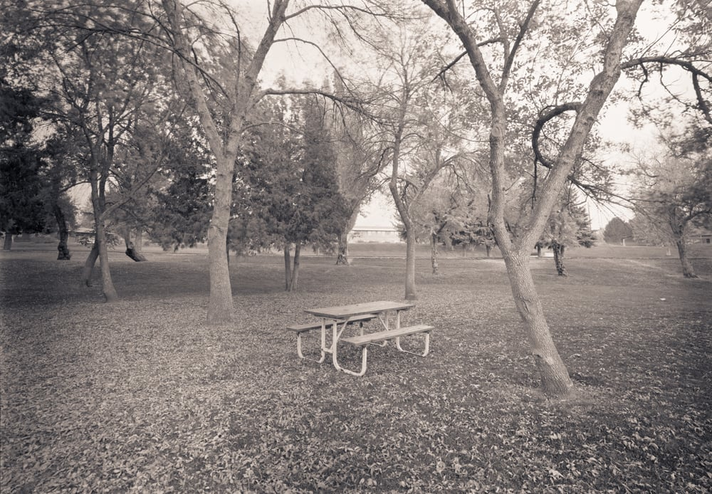 Picnic Bench, Smith Park, Rexburg, Idaho, 2004