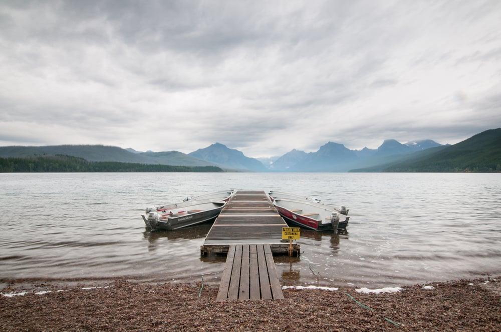 Boat Dock at Lake McDonald, Glacier National Park, Montana 2015
