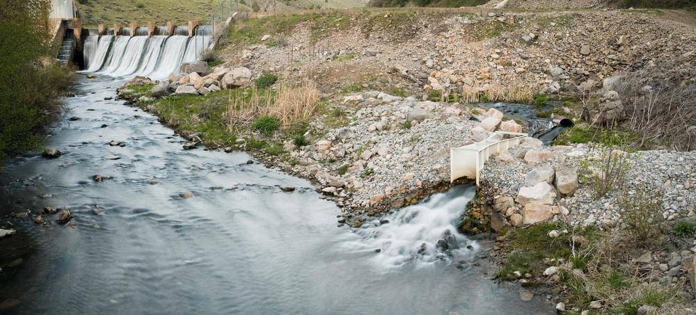 Dam, Blacksmith Fork River, Utah, 2010