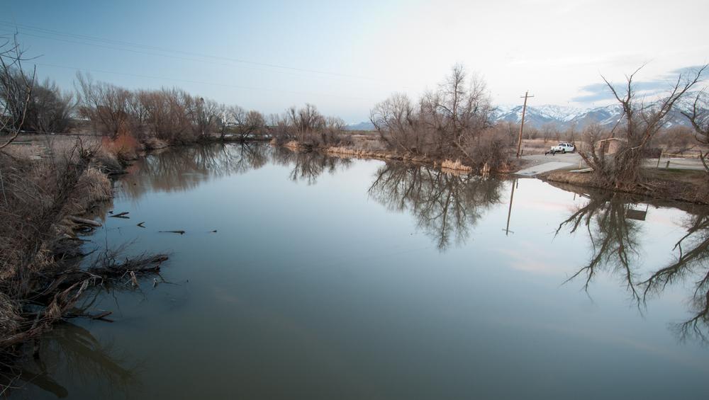 Boat Launch,Bear River, Benson, Utah, 2016