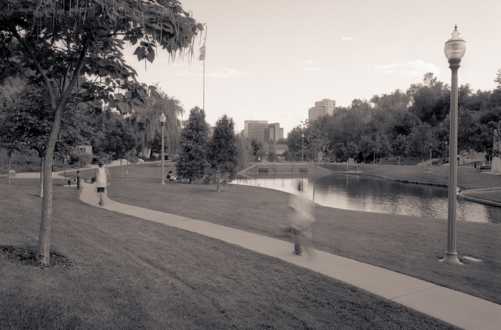 Pond, Footpath, Memorial Park, Salt Lake City, Utah, 2007
