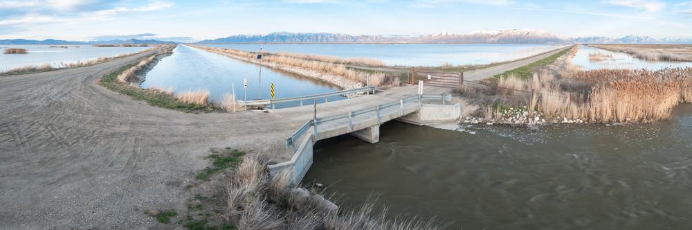 Bear River, East Pass, Bear River Migratory Bird Refuge, Utah, 2016