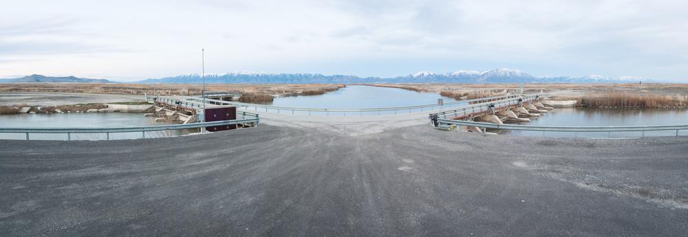Bear River Diverted Into Four Channels, Bear River Migratory Bird Refuge, Utah, 2016