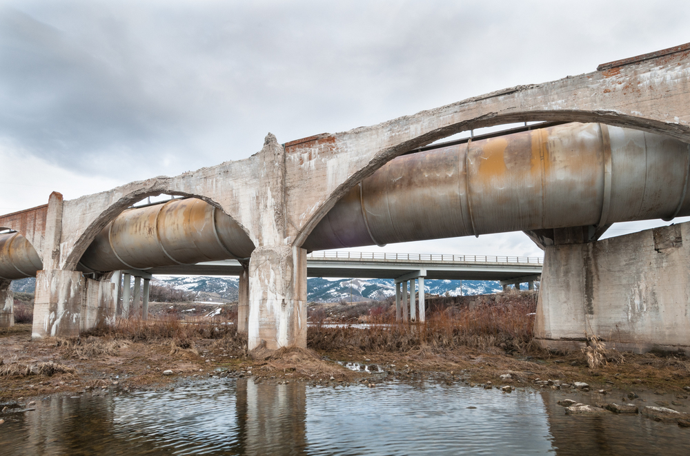 Aqueduct and Highway 34, Bear River, Grace, Idaho, 2016
