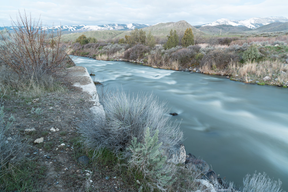Former Cove Dam Site on the Bear River, Utah 2017