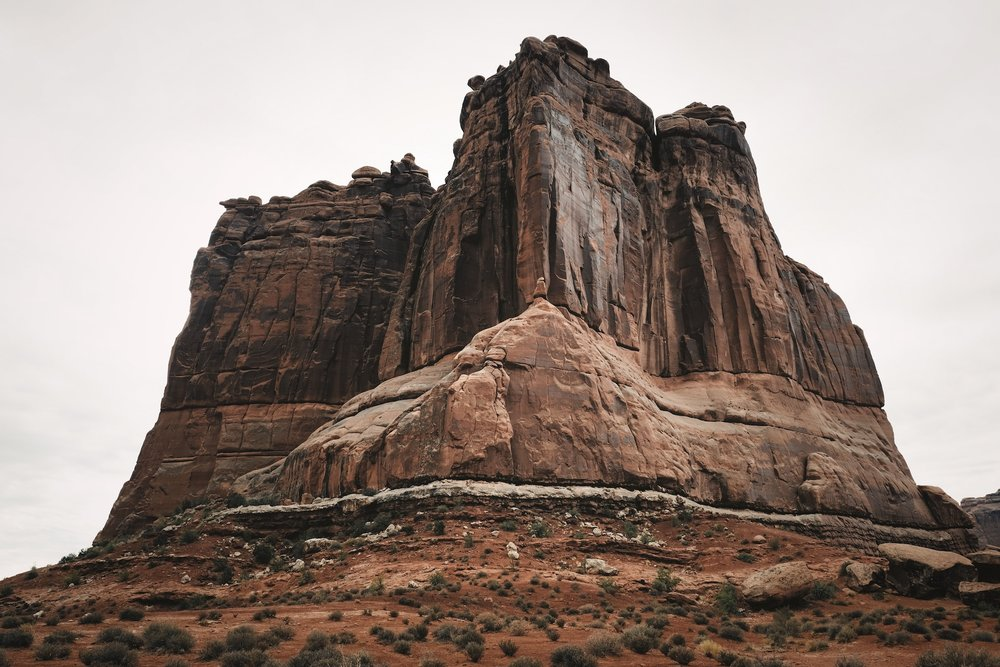 """""""The Organ"""" from The Great American West  My morning in Arches National Park last July was flat grey overcast, which was actually a nice change from all the other days I've had there when the light was typically very harsh. The Organ is an impressive edifice, roughly 500ft tall, and I really like how its stature came through in the image. I did a vertical composition as well, which can be seen in my 4x5 editions."""