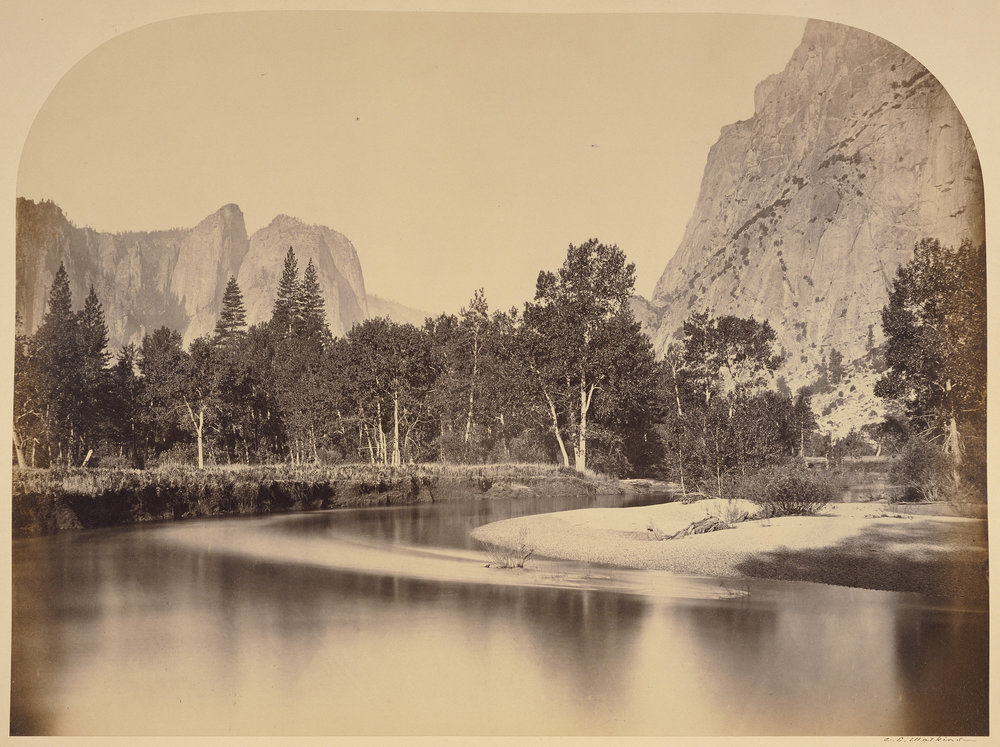 Carleton Watkins (American, 1829 - 1916)  View from Camp Grove down the Valley - Yo Semite , 1861, Albumen silver print 39.1 × 52.5 cm (15 3/8 × 20 11/16 in.) The J. Paul Getty Museum, Los Angeles