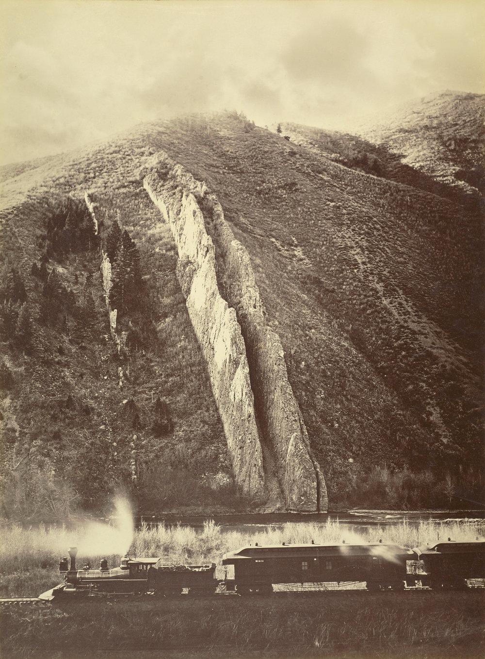 Carleton Watkins (American, 1829 - 1916)  [The Devil's Slide, Utah] , 1873 - 1874, Albumen silver print 52.1 × 39.1 cm (20 1/2 × 15 3/8 in.) The J. Paul Getty Museum, Los Angeles