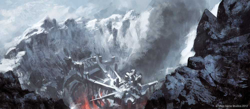 Concept art from the Iceland in Cradle. Clickhereto see more atMojo Game Studios