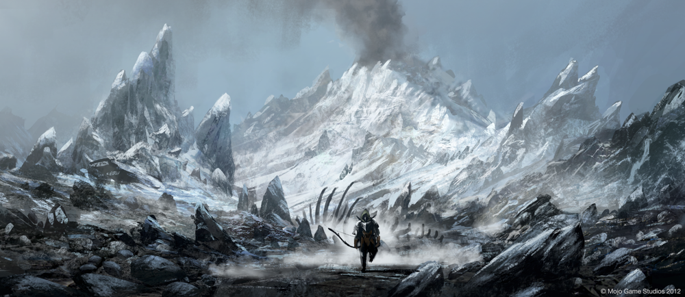Concept art from the Iceland in Cradle.  Click  here  to see more at  Mojo Game Studios