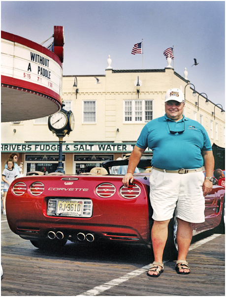 Proud owner at classic Corvette show. Ocean City, NJ. 2005.