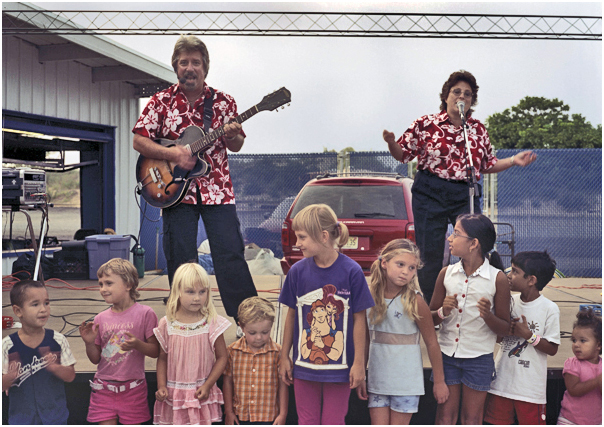 Band performs to bored kids. Keansburg, NJ. 2004.