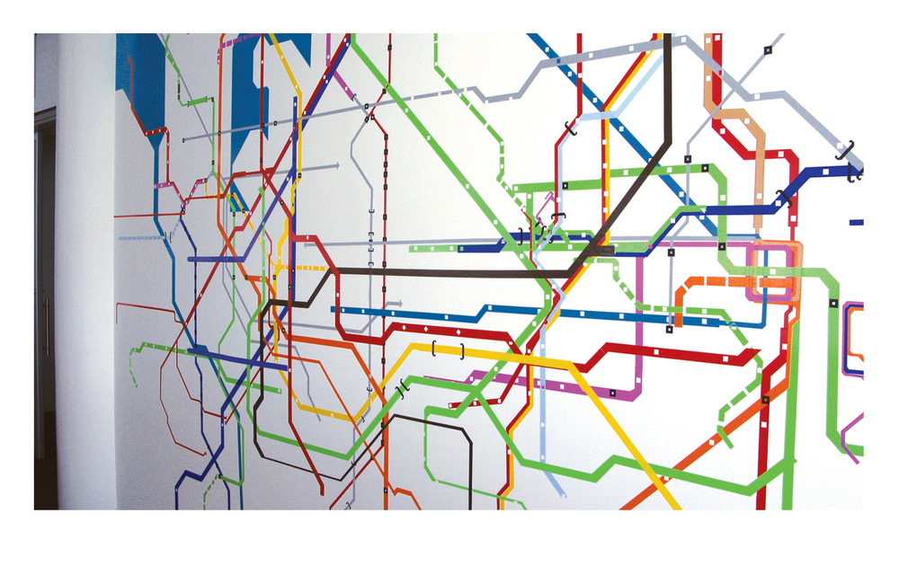 Information Retrieval 137, 2009 (Subway systems). Dimensions variable; wall size 14 x 20 ft.