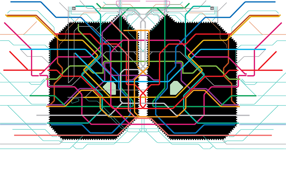 IR 145 - 2014 - 2015 (Tokyo Subway Mirror), Digital drawing, work in progress