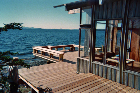 A custom, re-created cantilevered deck.