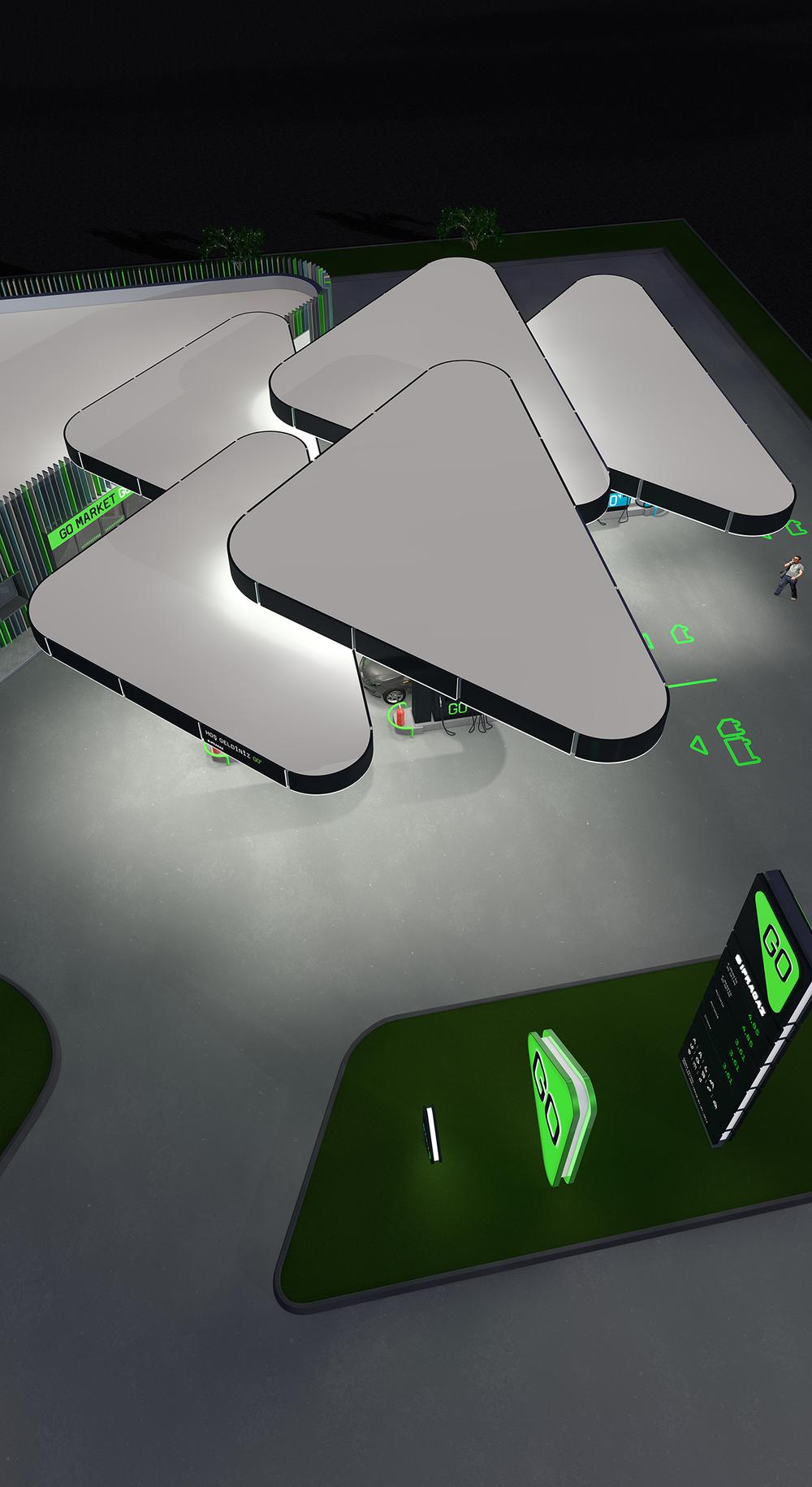 diseño retail gasolinera