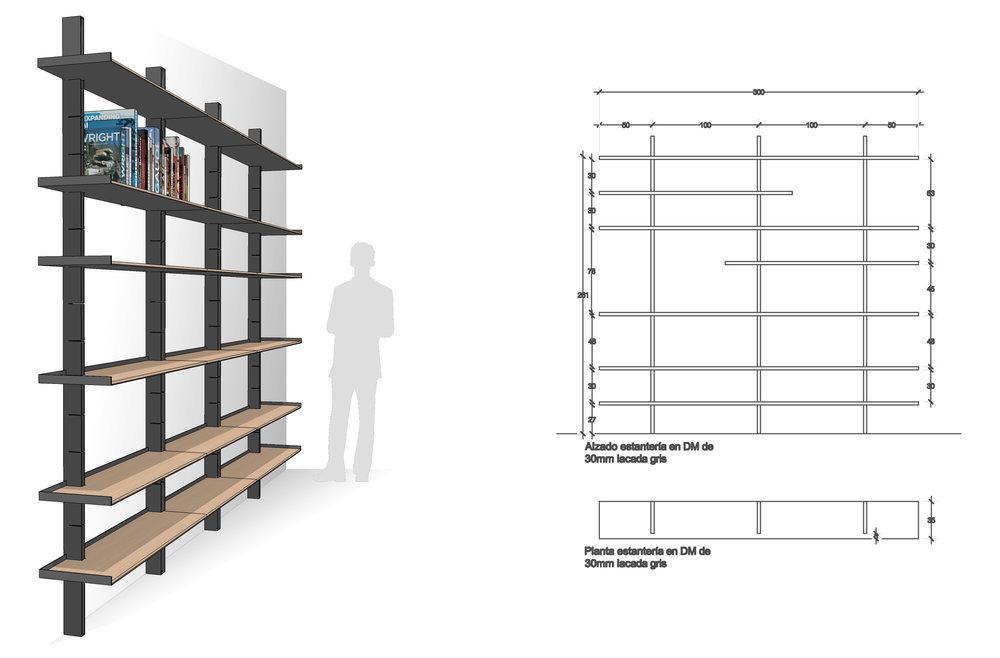 Office shelves design