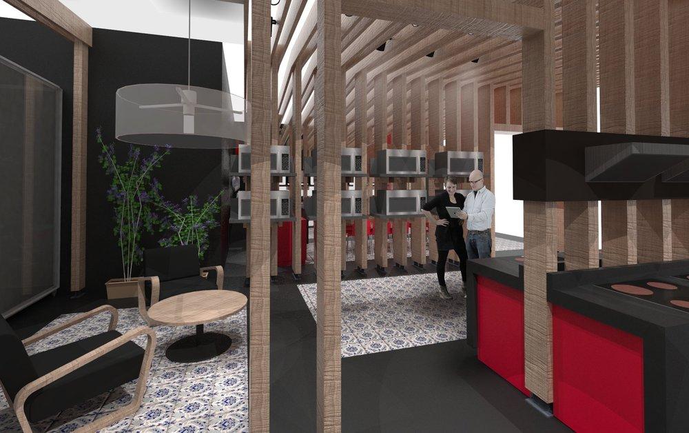 diseño interior stand