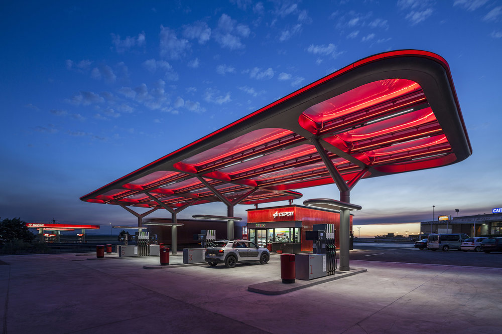 design retail gas station