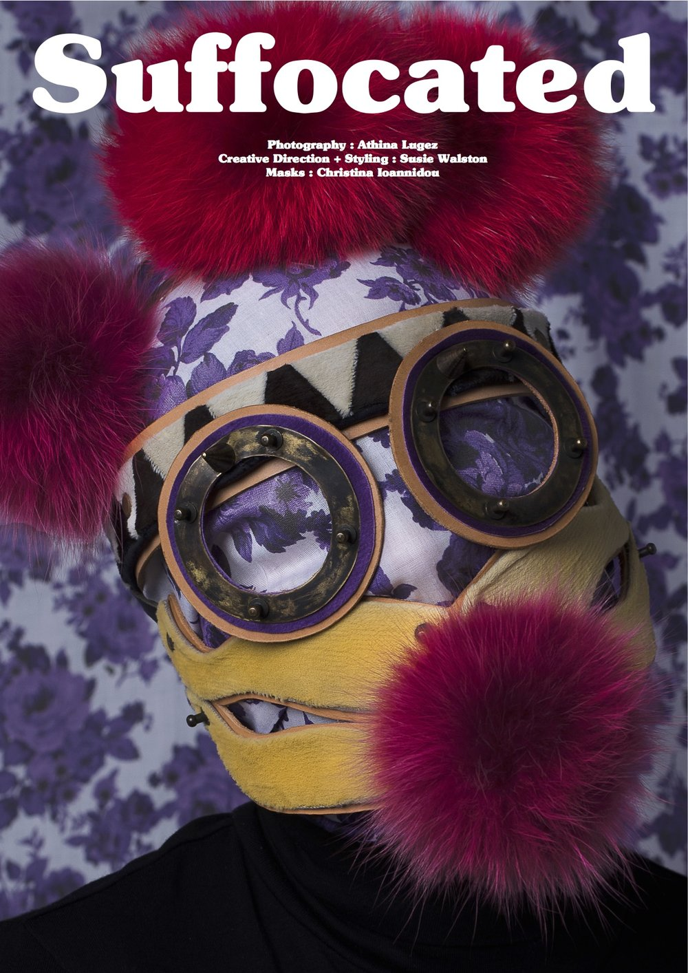 SUFFOCATED Photogrpahy Athina Lugez Styling & Creative direction Susie Walston Mask Rammellzee by Christina Ioannidou Prosopon collection