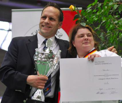 Sven Ferner mit Petra Lenz (Foto: C. Grüner)