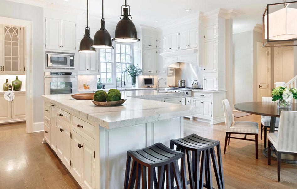 I love the clean mix of styles in this gorgeous kitchen designed by S. Russell Groves.