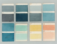 Paint chips, unknown source//Nuancier, source inconnue